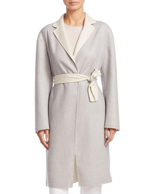 Fabiana Filippi - Gray Cappotto Lungo Cash Coat - Lyst
