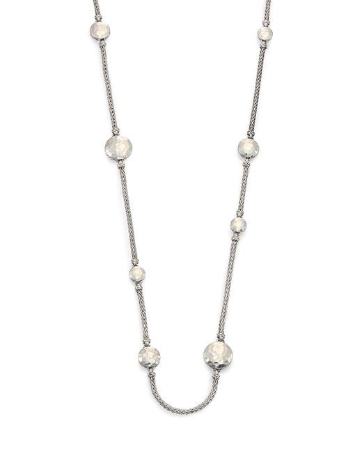 John Hardy - Blue Palu Sterling Silver Disc Sautoir Necklace/36 - Lyst