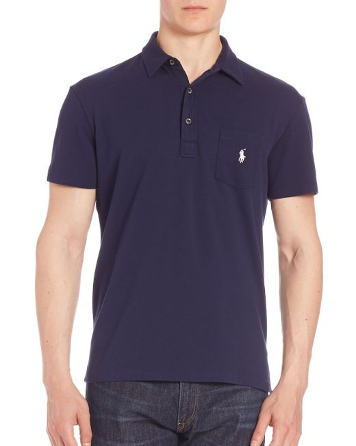 Polo Ralph Lauren - Blue Cotton Polo Shirt for Men - Lyst
