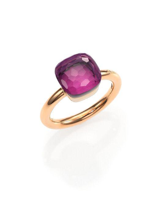 Pomellato | Metallic Nudo Amethyst & 18k Rose Gold Ring | Lyst