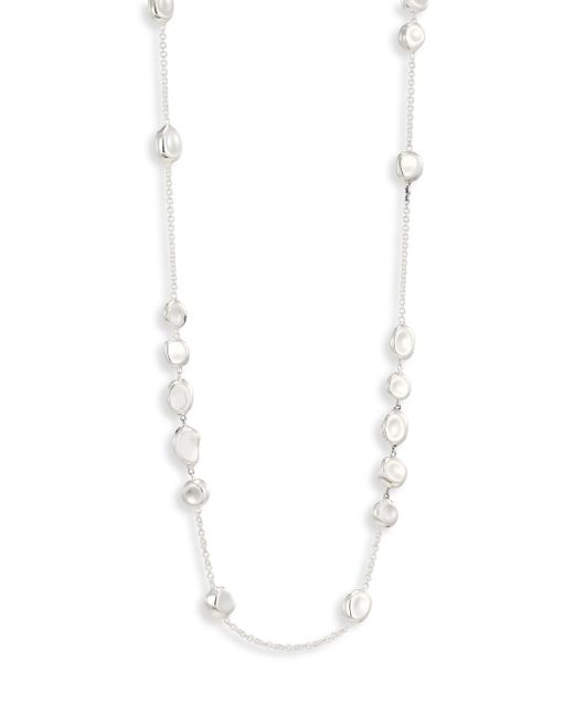 Ippolita - Metallic 925 Classico Mixed Shape Pebble Station Necklace/37 - Lyst