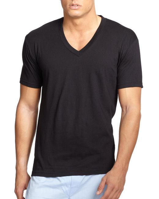 Saks Fifth Avenue - Black V-neck Tee, 3-pack for Men - Lyst