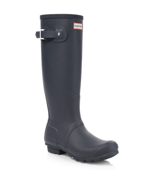 Hunter - Blue Original Tall Matte Rain Boots - Lyst