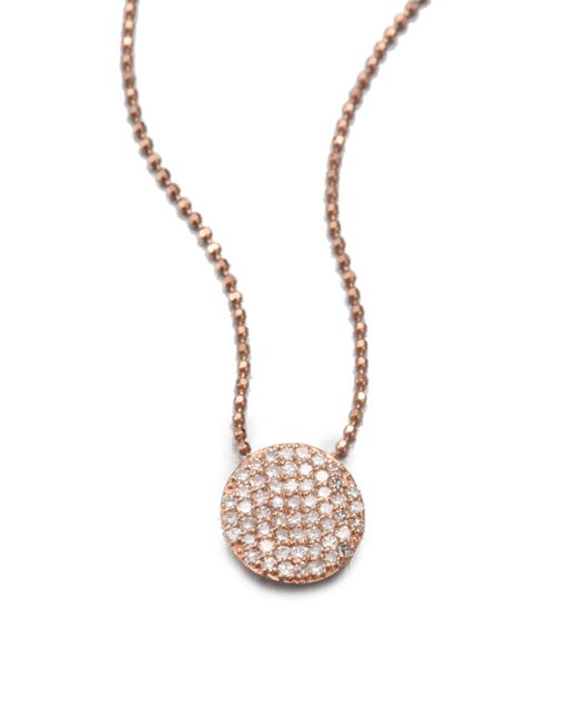 Phillips House - Pink 14k Rose Gold & Diamond Mini Infinity Pendant Necklace - Lyst