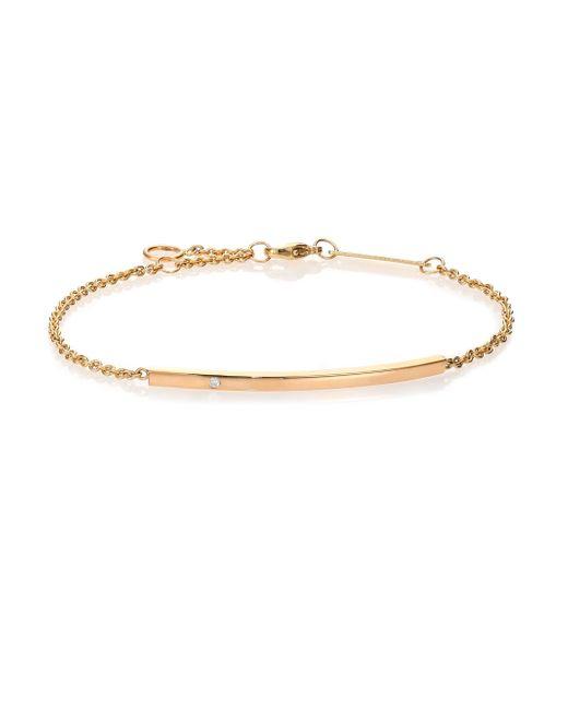 Zoe Chicco | Metallic Diamond & 14k Yellow Gold Bar Bracelet | Lyst