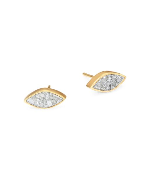 Shana Gulati | Metallic Banjara Nakiya Sliced Raw Diamond Stud Earrings | Lyst