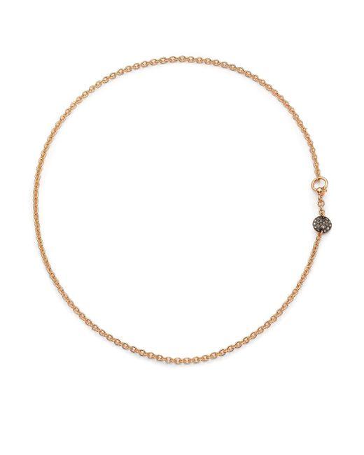 Pomellato - Pink Sabbia Brown Diamond & 18k Rose Gold Necklace - Lyst