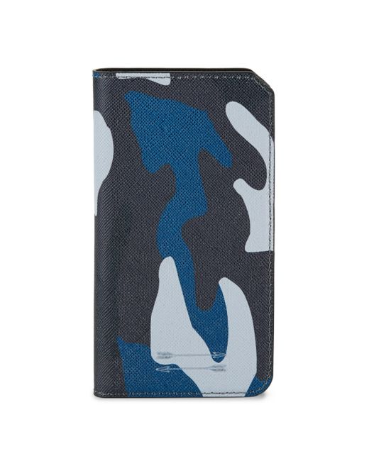 Uri Minkoff | Blue Saffiano Leather Folio Iphone 7 Case for Men | Lyst
