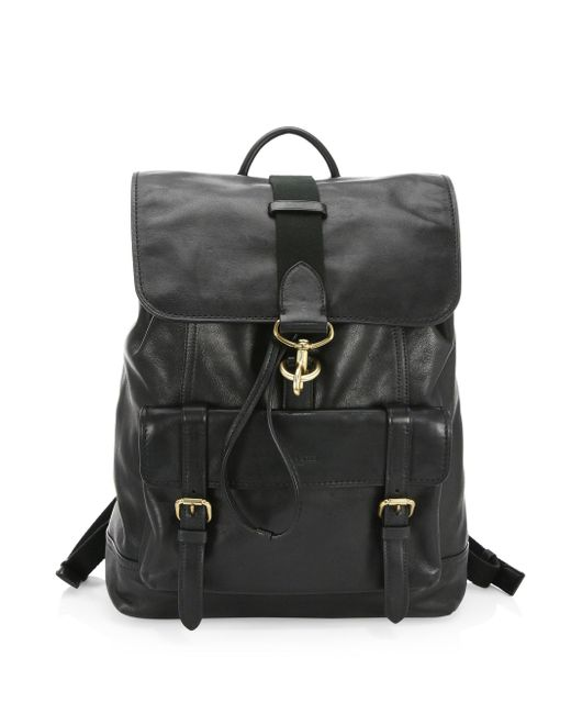 COACH | Black Classic Leather Backpack | Lyst