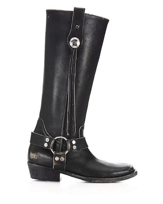 balenciaga leather harness boots in black lyst. Black Bedroom Furniture Sets. Home Design Ideas
