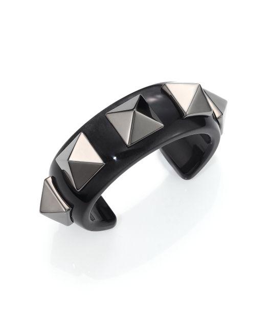 Valentino - Multicolor Studded Acrylic Cuff Bracelet - Lyst