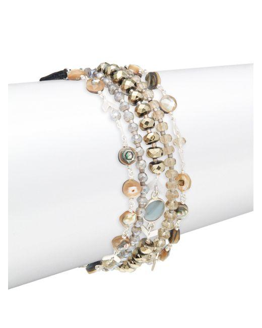 Chan Luu - Multicolor Abalone Mix Stone Bracelet - Lyst