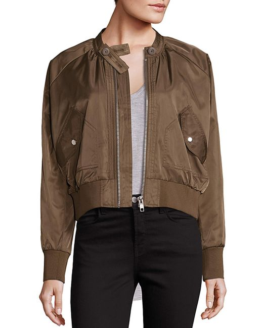Free People | Brown Midnight Bomber Jacket | Lyst