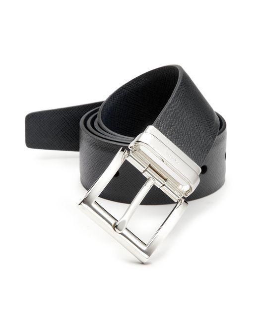 Prada - Black Cinture Leather Belt for Men - Lyst