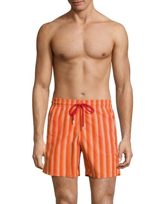 lyst vilebrequin herringbone print swim trunks for men. Black Bedroom Furniture Sets. Home Design Ideas