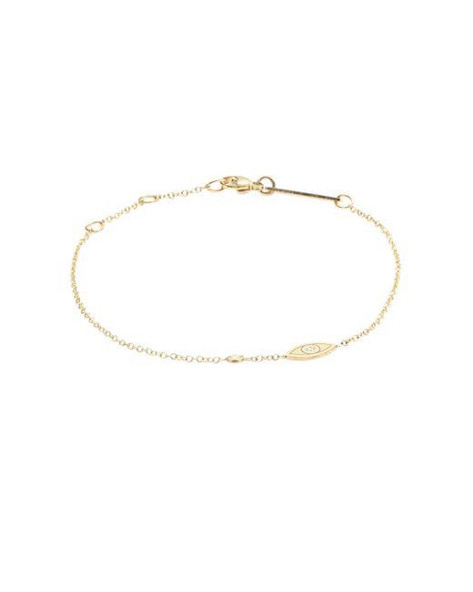 Zoe Chicco - Metallic 14k Yellow Gold Evil Eye Bracelet - Lyst