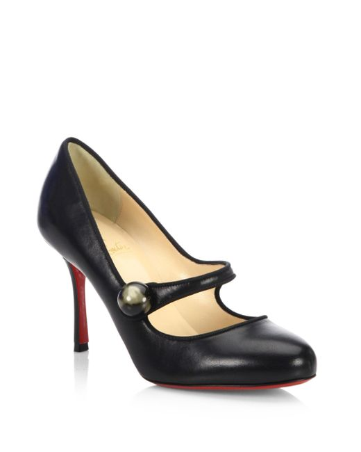 Christian Louboutin | Black Nappa Shiny Leather Booties | Lyst