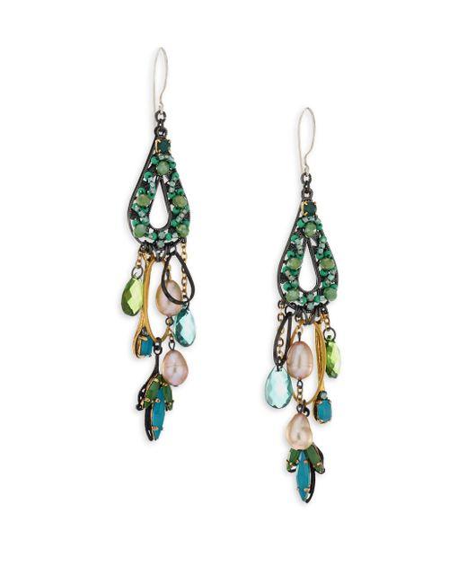 Erickson Beamon - Multicolor Emerald City Crystal Drop Earrings - Lyst