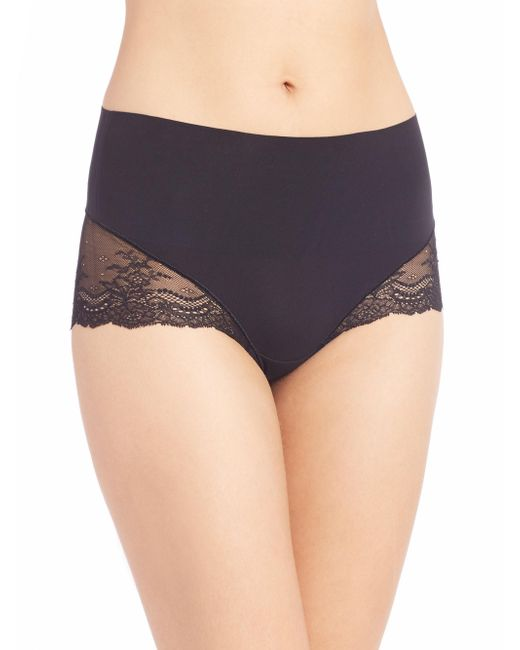 Spanx - Black Undie-tectable Lace Hi-hipster Panty - Lyst