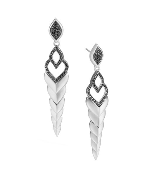 John Hardy | Legends Naga Black Sapphire & Spinel Stud Earrings | Lyst