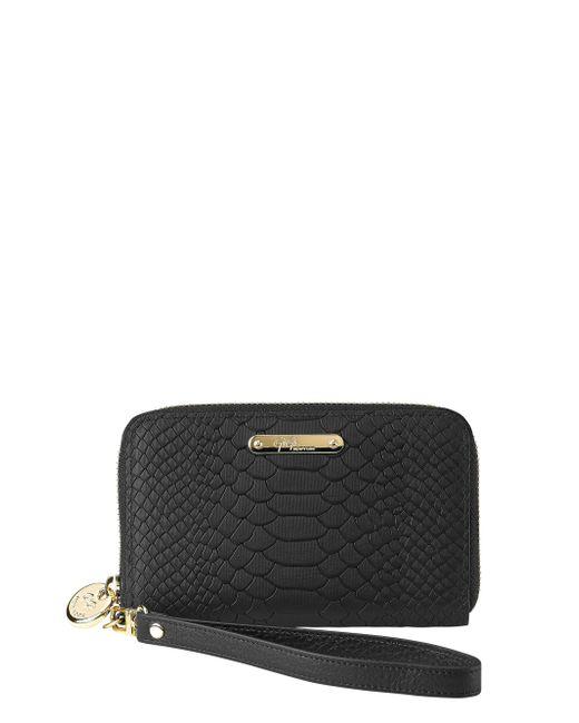 Gigi New York - Pink Python-embossed Leather Phone Wristlet - Lyst