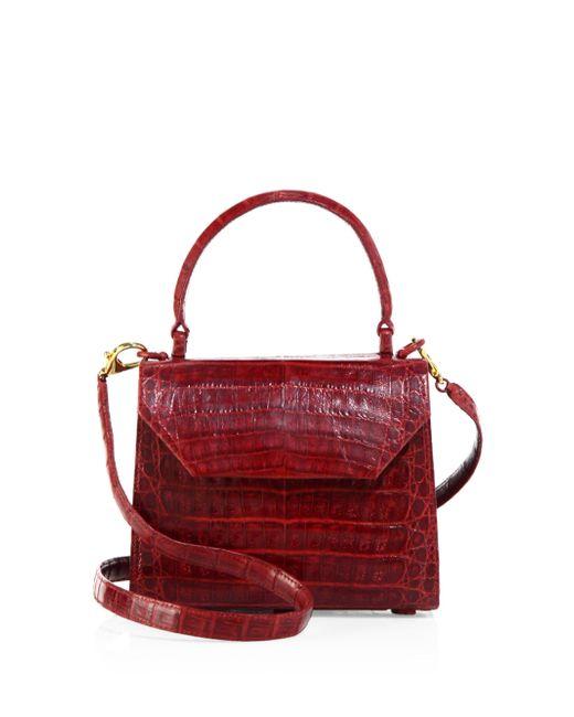Nancy Gonzalez   Red Mini Lily Crocodile Leather Crossbody Bag   Lyst