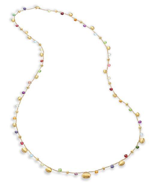 Marco Bicego | Multicolor Paradise Semi-precious Multi-stone Graduated Long Necklace/35 | Lyst