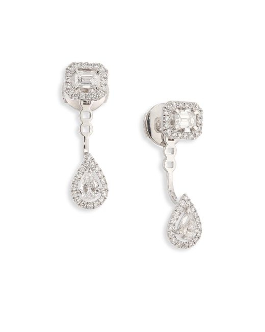 Messika | Metallic My Twin Toi & Moi Small Diamond & 18k White Gold Stud & Ear Jacket Set | Lyst