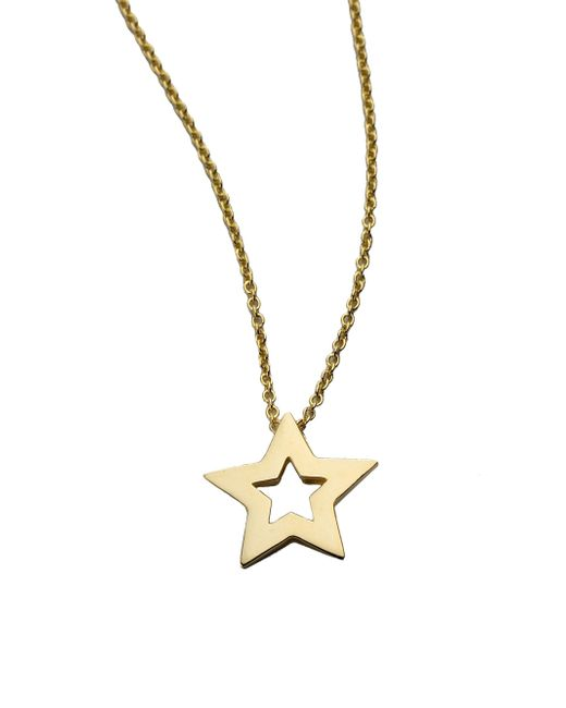Roberto Coin - Tiny Treasures 18k Yellow Gold Small Star Pendant Necklace - Lyst