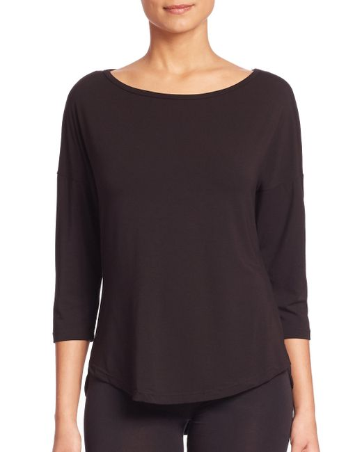 Cosabella - Black Talco Three-quarter Sleeve Pajama Top - Lyst