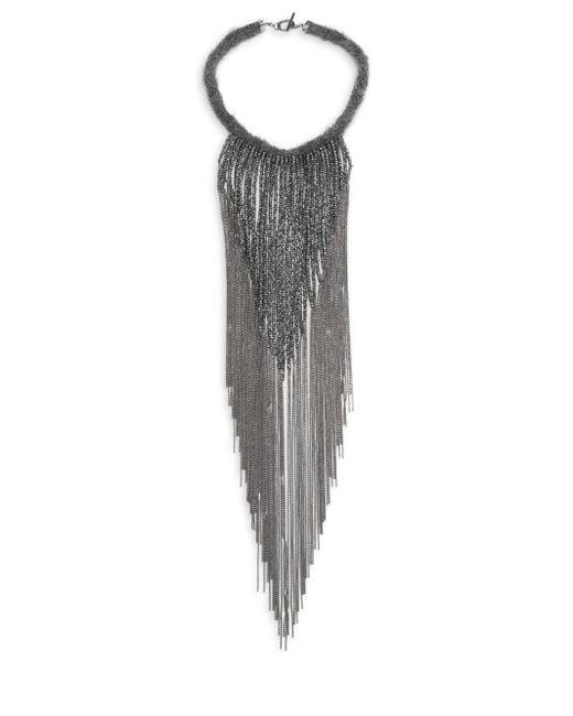 Brunello Cucinelli | Metallic Mohair Waterfall Necklace | Lyst