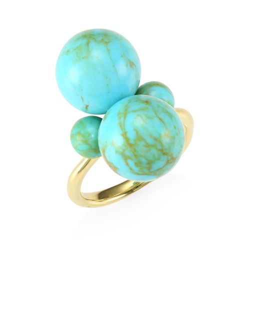 Ippolita - Metallic Nova 18k Yellow Gold & Turquoise Ring - Lyst