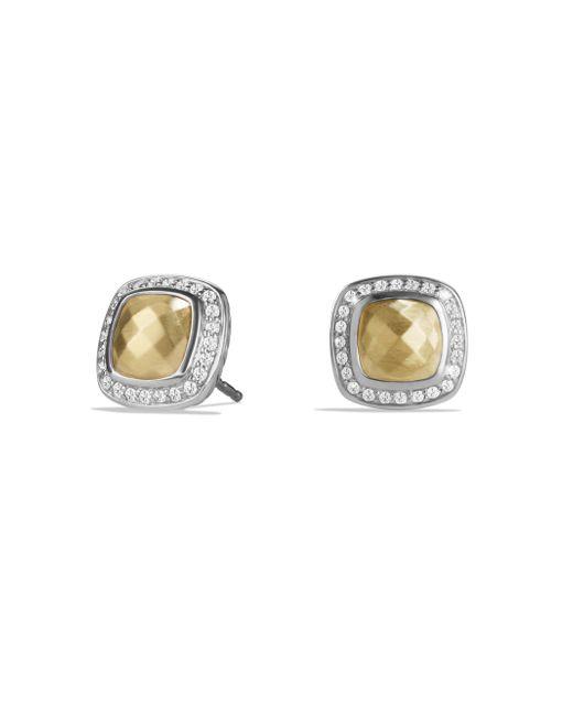 David Yurman - Metallic Albion Earrings With Diamonds - Lyst