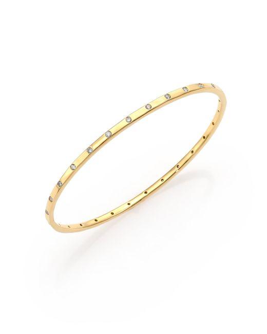 Ippolita | Metallic Glamazon Stardust Diamond & 18k Yellow Gold Bangle Bracelet | Lyst