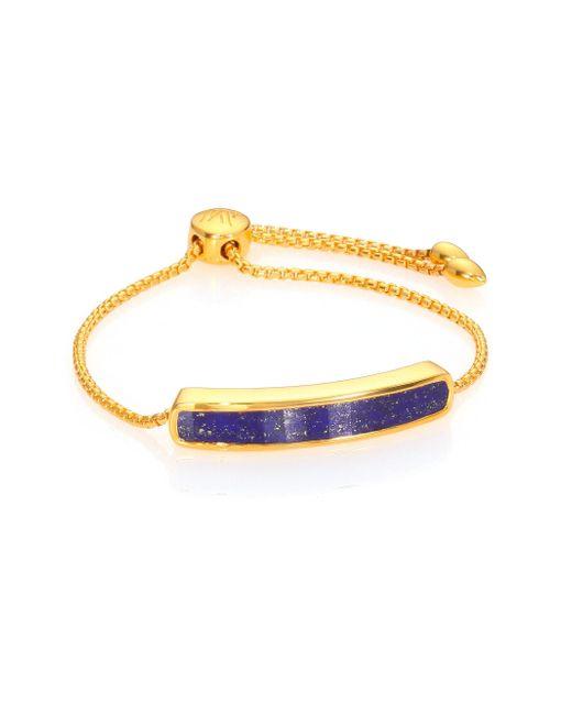 Monica Vinader | Blue Baja Lapis Chain Bracelet | Lyst