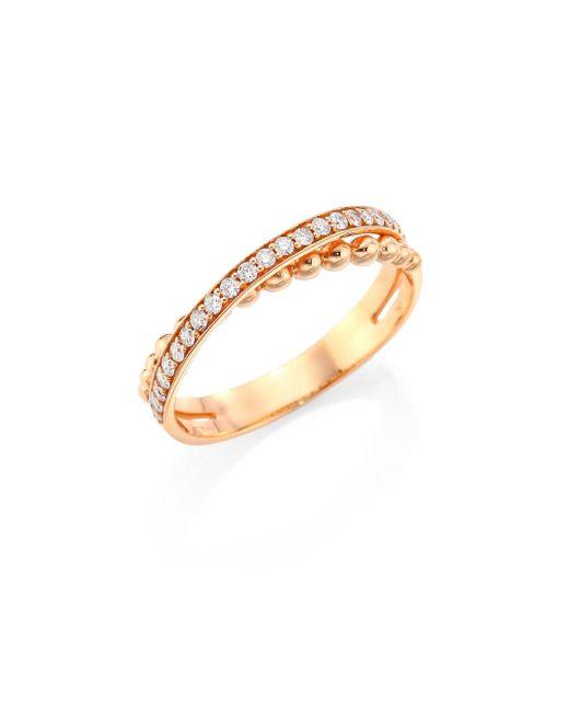 Hueb   Metallic Bubbles Diamond & 18k Rose Gold Ring   Lyst