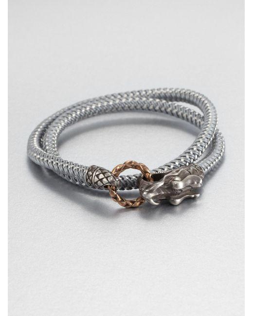 John Hardy | Gray Braided Wrap Sterling Silver Bracelet | Lyst