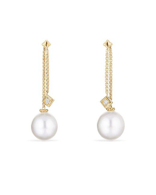David Yurman - Metallic Solari Drop Earrings In 18k Gold With Diamonds - Lyst