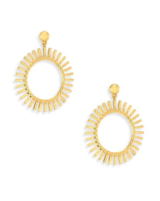 Lele Sadoughi   Metallic Hula Hoop Earrings/1.5   Lyst