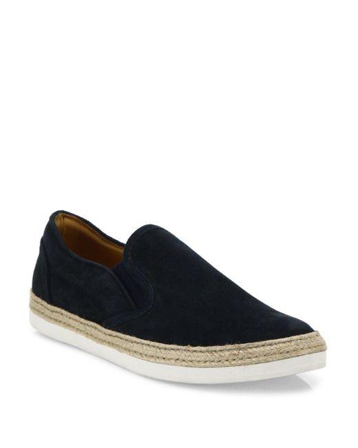 Saks Fifth Avenue | Blue Espadrille Suede Slip-on Sneakers for Men | Lyst