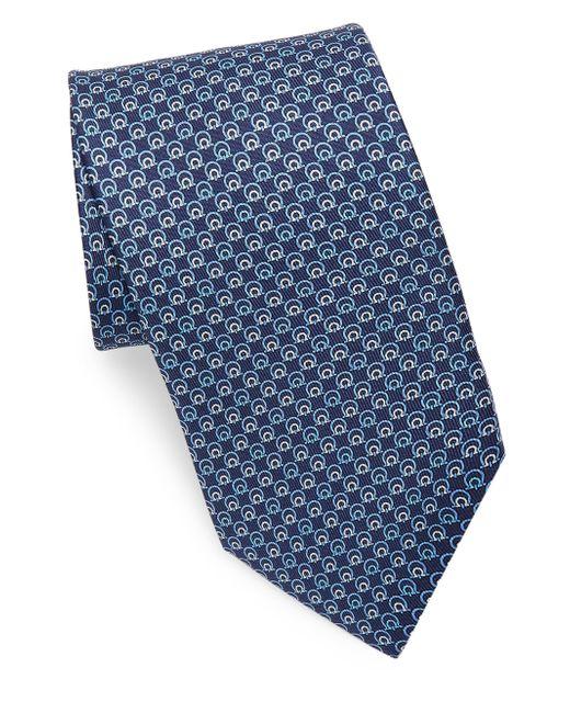 Ferragamo - Blue Silk Concentric Gancini Tie for Men - Lyst