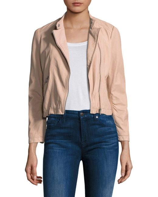 Rebecca Taylor - Natural Leather Moto Jacket - Lyst