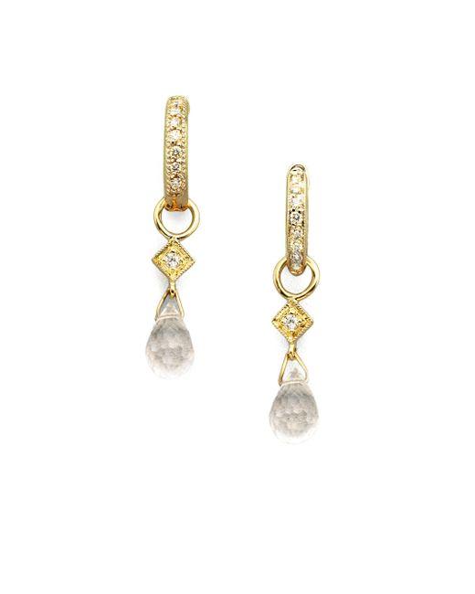 Jude Frances - Metallic White Topaz, Diamond & 18K Yellow Gold Earring Charms - Lyst