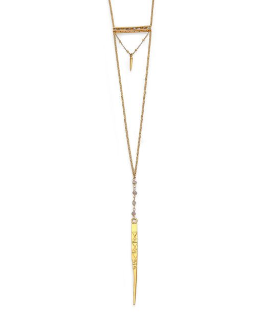 Chan Luu - Metallic Labradorite Dagger Pendant Necklace - Lyst