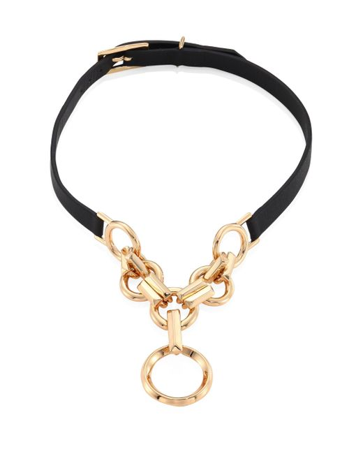 Eddie Borgo | Metallic Leather O-ring Choker | Lyst