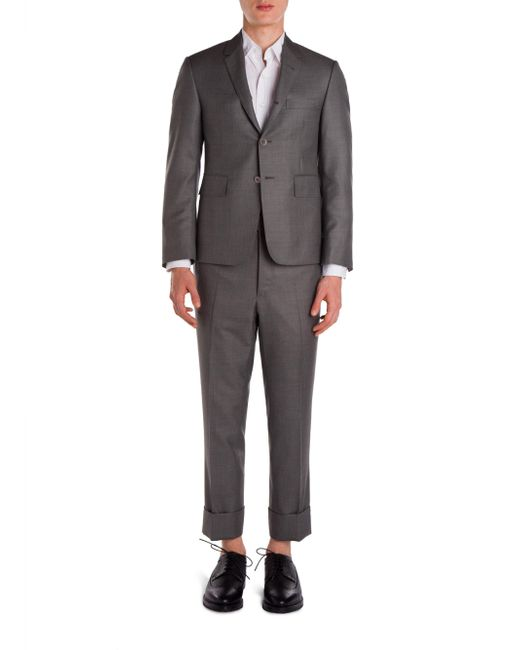 Thom Browne - Gray Classic Wool Suit for Men - Lyst