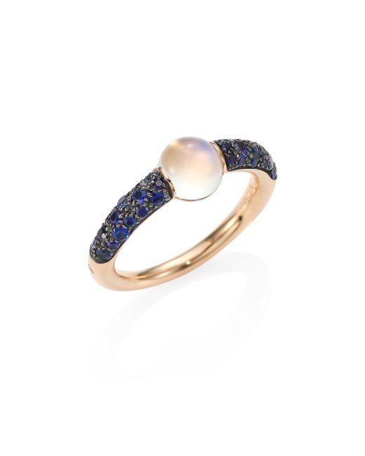 Pomellato | M'ama Non M'ama Blue Sapphire, Moonstone & 18k Rose Gold Ring | Lyst