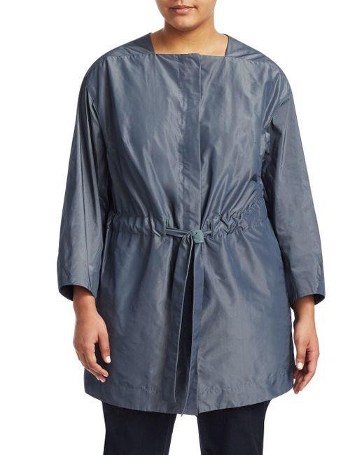 Lafayette 148 New York - Blue Stephania Tie-waist Jacket - Lyst