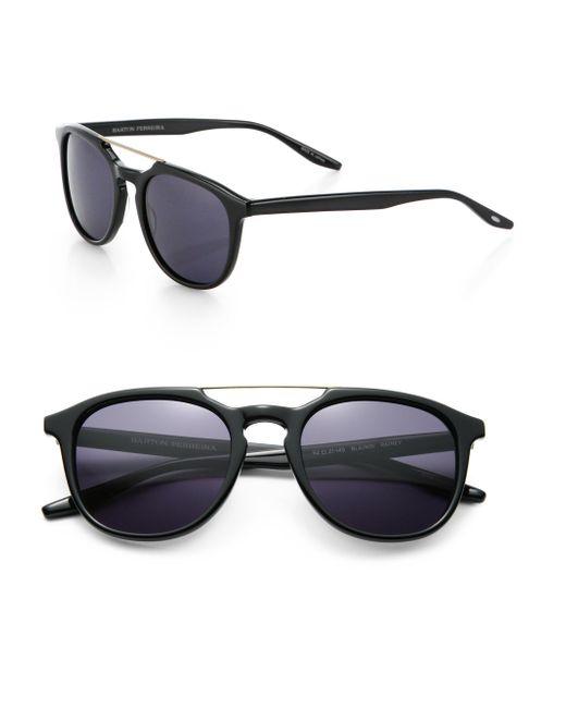 Barton Perreira | Black Rainey 52mm Square Sunglasses for Men | Lyst