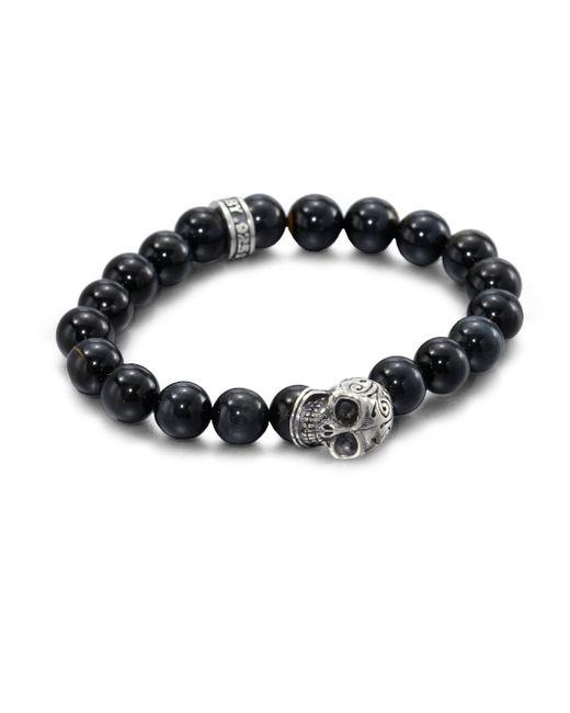 King Baby Studio - Metallic Tigers' Eye Beaded Bracelet for Men - Lyst
